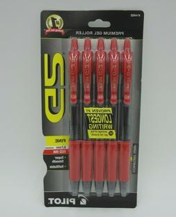 Pilot G2 Premium Gel Roller Fine Point .7mm Red Ink Comfort