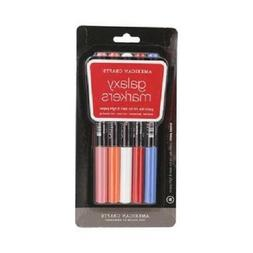 American Crafts Galaxy Marker 5-Pack, Broad Point, Multi Col