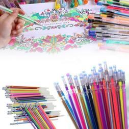 Gel Pen Refills Glitter 48 Colors Coloring Drawing Craft Mar
