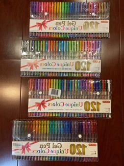 Gel Pens Set for Adult Coloring Books Art Markers 120 Unique