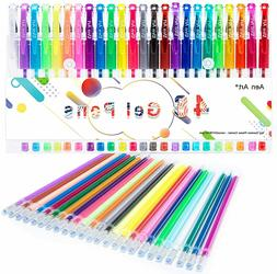 Gel Pens Set Glitter White Ink For Coloring Books Metallic N