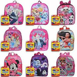 "Girls 12"" Backpack and Markers Set Minnie JoJo Siwa Moana LO"