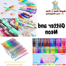 Glitter Gel Pen Coloring Drawing Painting Marker Craft Stati