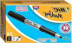 BIC America GPM241BK Mark-it Permanent Markers  Fine Point