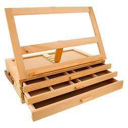 U.S. Art Supply Grand Solana Adjustable Wooden 3-Drawer Stor