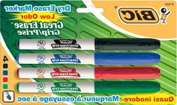 BIC Great Erase Grip Dry Erase Markers, Fine Point, Assorted