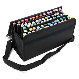 BTSKY Handy 80 Slots Carrying Lipstick Organizer Marker Case