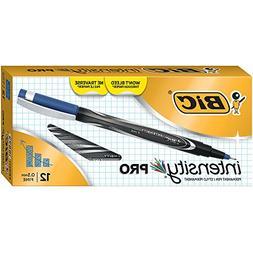 BIC Intensity Marker Pen, Fine Point , Blue, 12-Count