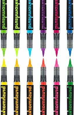 Karin Neon Colours – 12 Brush Markers Pro with neon Colour