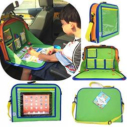 Kids Backseat Organizer Holds Crayons Markers an iPad Kindle