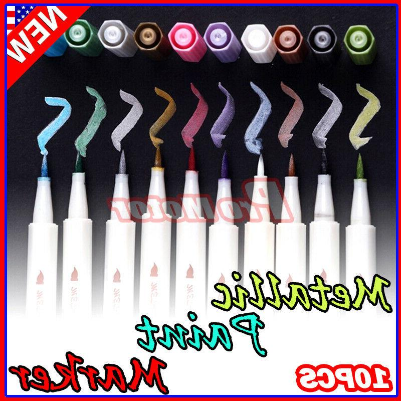 10 colors set assorted metallic paint markers
