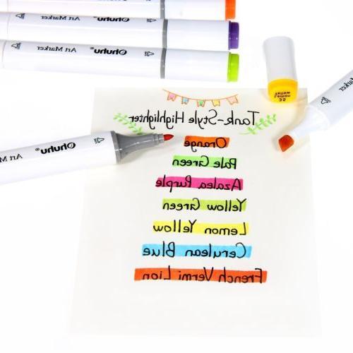 Ohuhu120/100/80/60 Colors Tips Art Twin Marker Pens