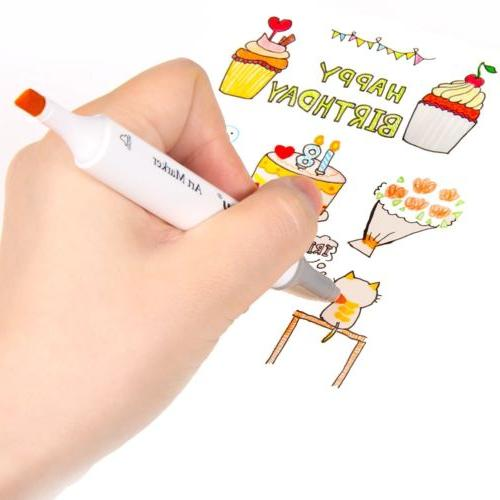 Ohuhu Dual Tips Sketch Twin Marker Pens Case Painting