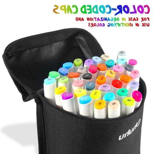 60 Colors Touch Alcohol Art Dual Tip Sketch Pen Art Sketch T