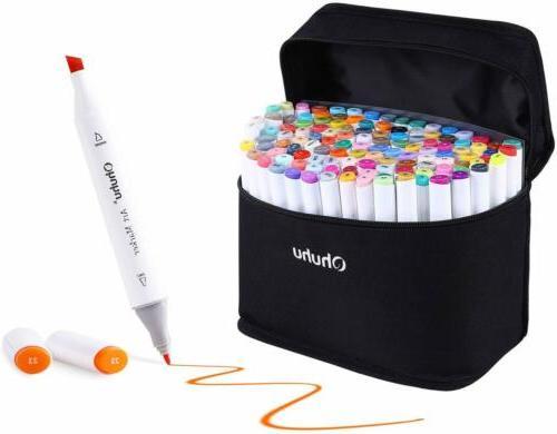 multicolor highlighters markers pen dual tip sketch