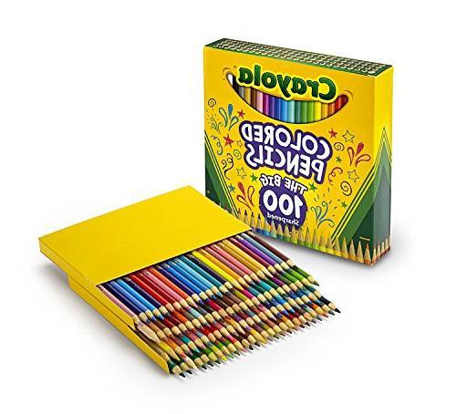 100 big sharpened pencils