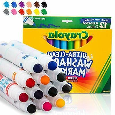 12 ct ultra clean washable markers assorted