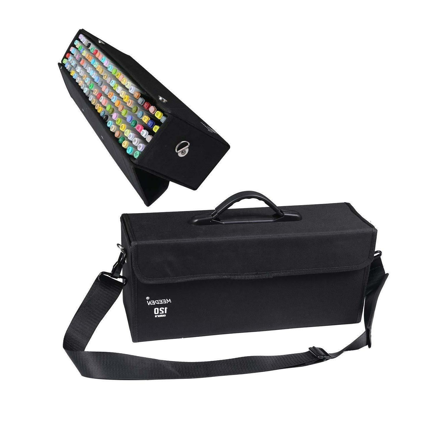 120 colors markers carrying case holder