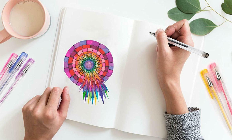 Gel Adult Coloring Markers Unique No
