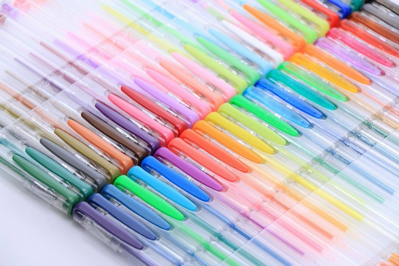 Gel Pens Adult Coloring Markers 120 Unique No Duplicate