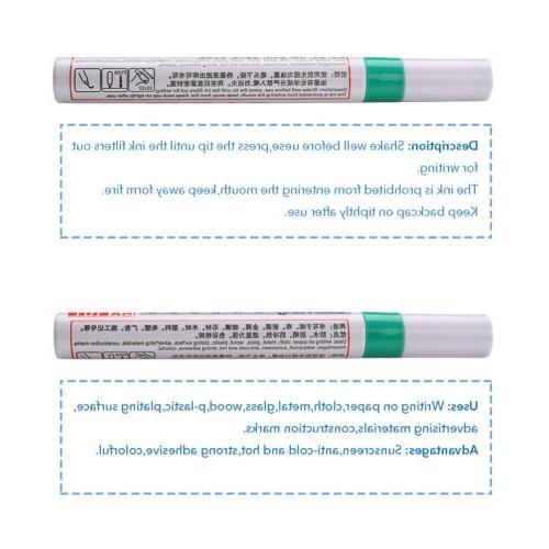 12pcs Colorful Universal Car Pen Paint Markers Tire Permanen