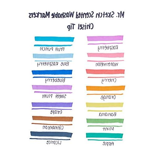 Scented Markers, Chisel Assorted Colors,