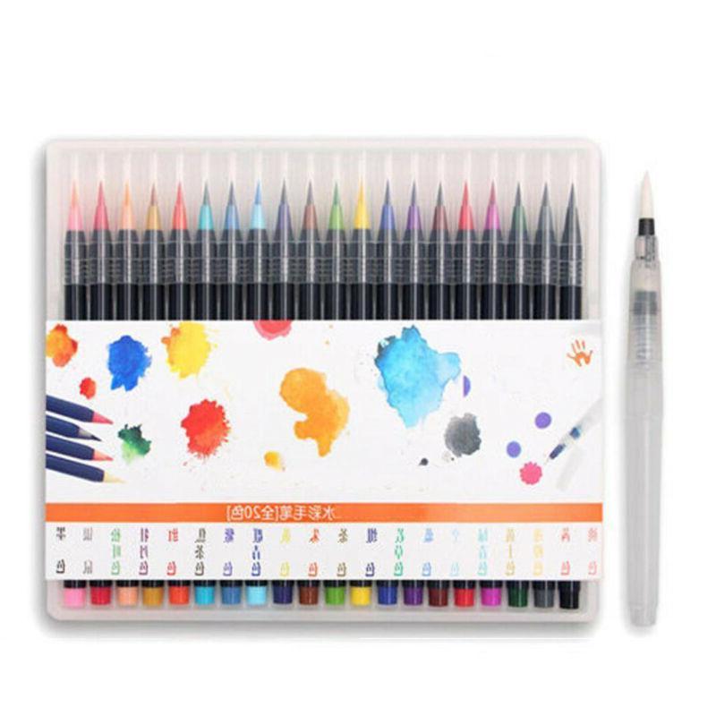 20 Colors Watercolor Painting Manga Marker Pen
