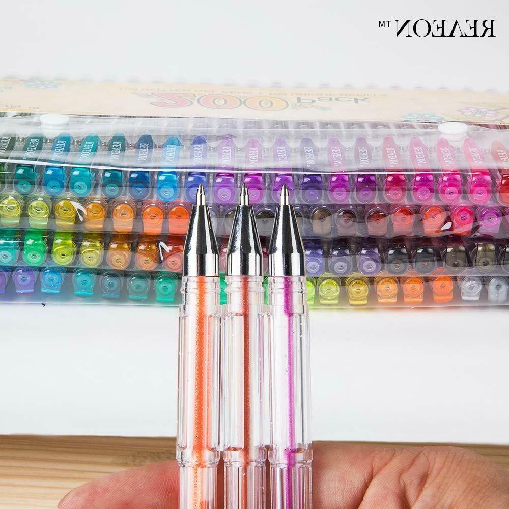 200 Gel Set, 100 Gel Plus Refills Neon Pen