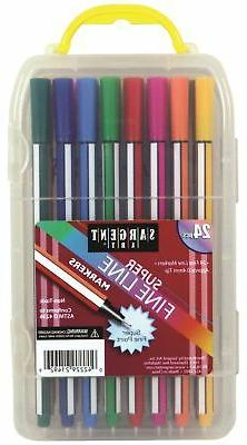 Sargent Art 22-1492 24 Line Markers, Case, Detail Coloring