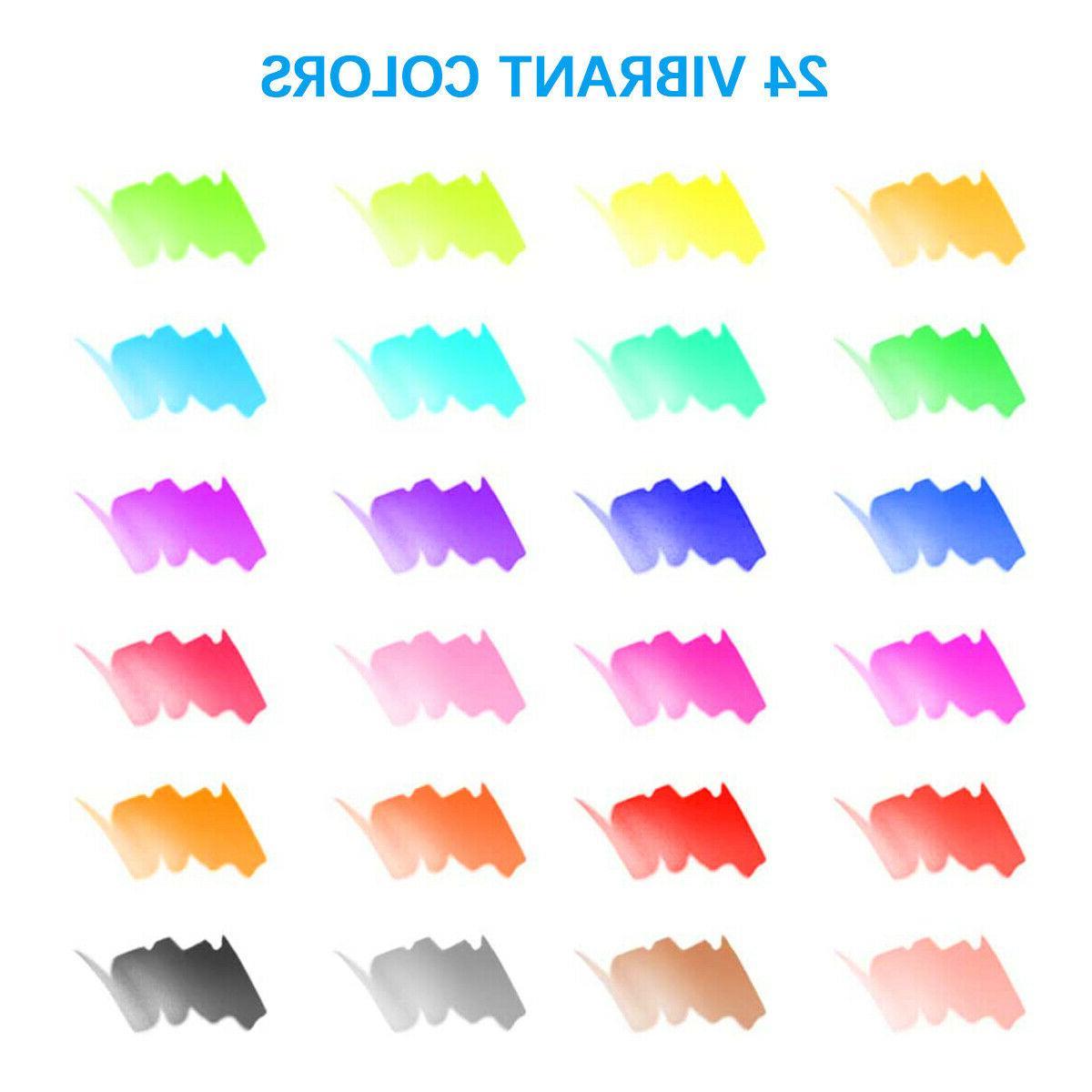 Watercolor Brush Pens 25pcs Water Markers Coloring Drawing