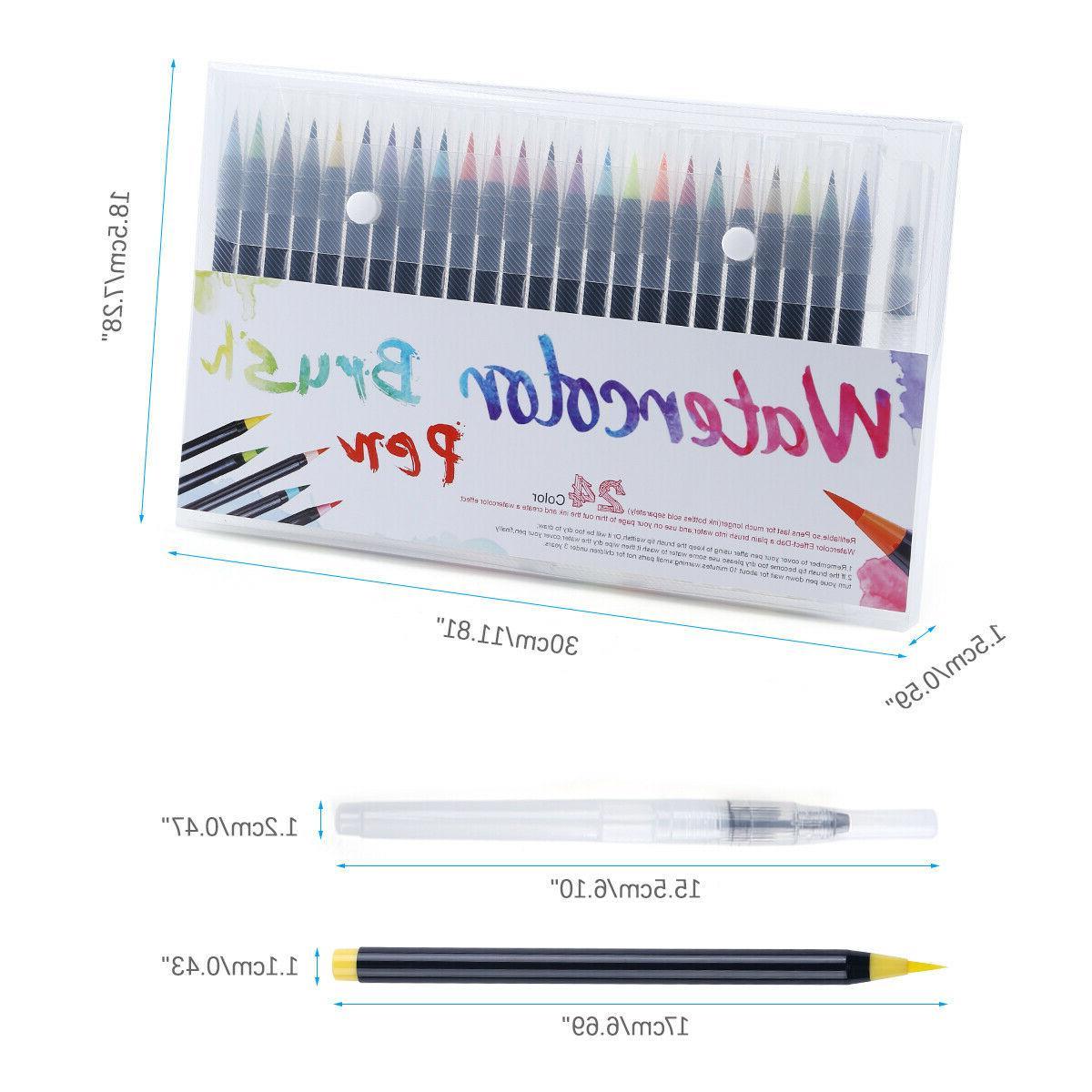 Watercolor Pens 25pcs Coloring Calligraphy