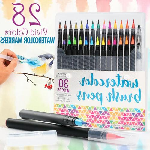 Watercolor Brush Pens Paint Markers For Water Color Calligr