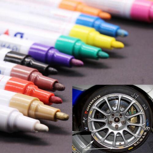 2Pcs Universal Permanent Paint Pen Tyre Tread