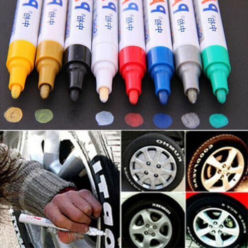 2Pcs Waterproof Paint Marker Car Tyre Tread