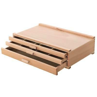 3 drawer artist wood pastel