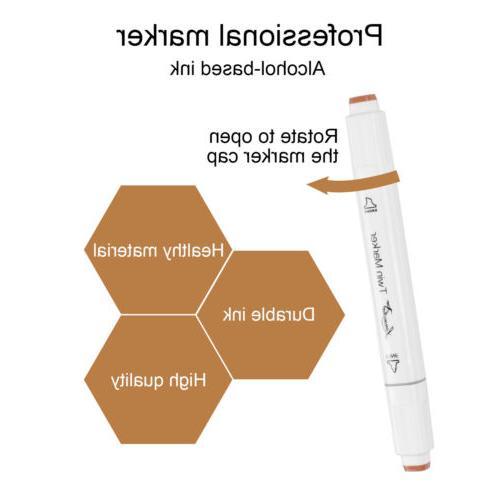 24 Color Skin Pen Art Sketch Twin Tip