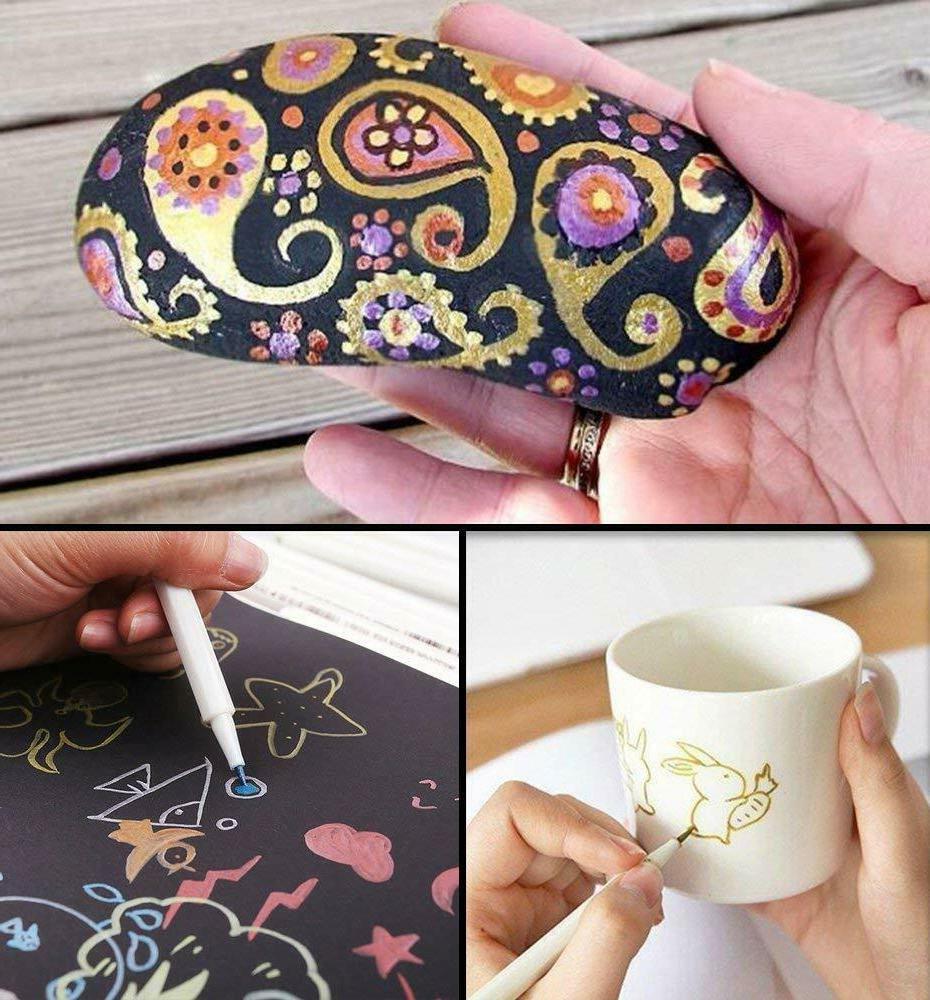 30-Pack Colors Metallic Art Pen Markers Fine Tip Tip 0002
