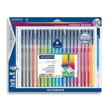 Staedtler 323SB20BK Triplus Markers, Water-based Ink, Fiber-
