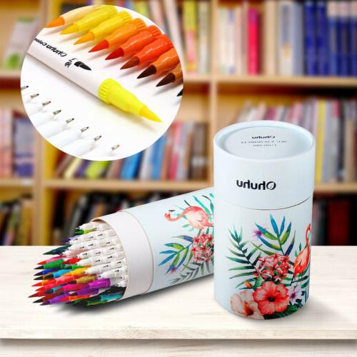 60pcs set soft brush pen sketch markers