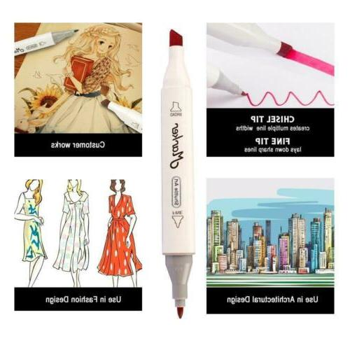 Shuttle 50 Colours Dual Tip Marker Pens Highlighters...