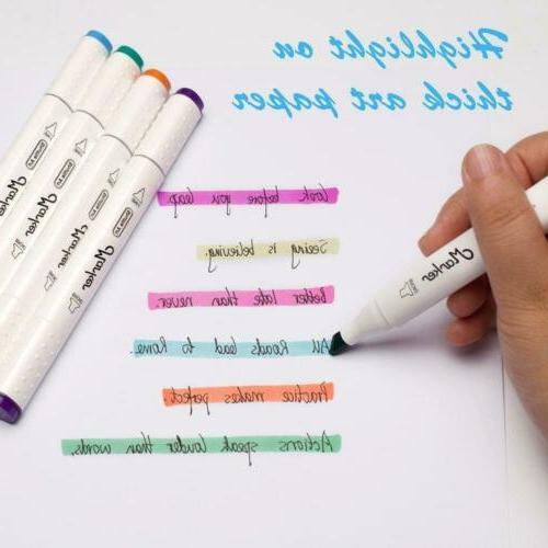 Shuttle Art Dual Tip Markers,Permanent Marker Pens