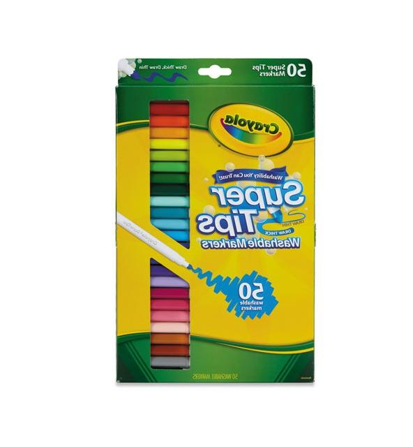 50ct washable super tips markers 50 color