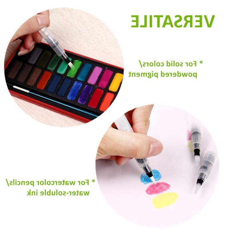 6 Watercolor Markers Pens Set Art Paint Fineliners