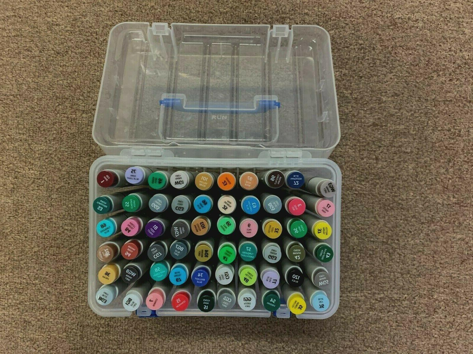 60 colors alcohol markers fine and chisel
