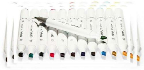 60 colors dual tips permanent marker pens