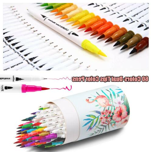 60PCs/Set Soft Brush Sketch Markers Watercolor Set Graphic Drawing