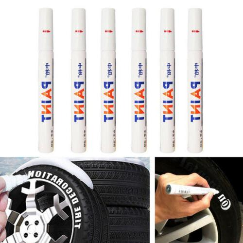 6pcs waterproof marker pen permanent paint car