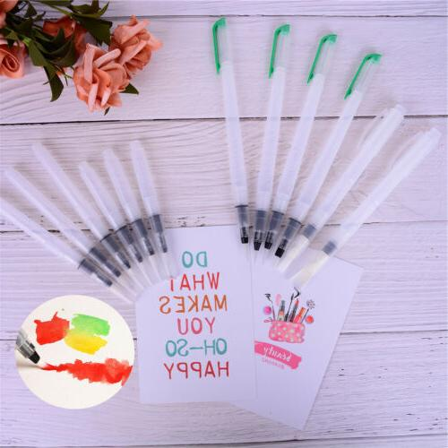 6X Refillable Water Color Soft Painting Brush Marker Waterco