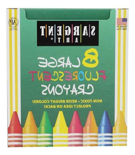 8 crayons