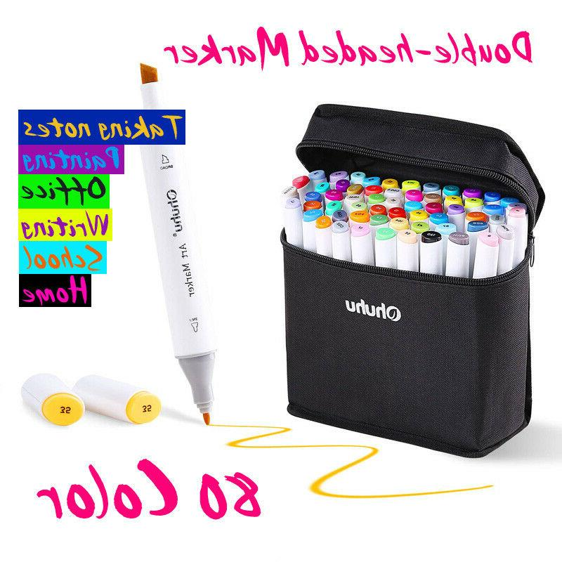 80 color markers alcohol graphic art twin